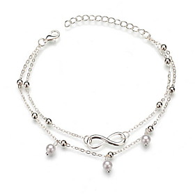 Women's Ankle Bracelet Double Layered Ball Casual / Sporty Anklet Jewelry Gold / Silver For Daily Gender:Women's; Quantity:1pc; Theme:Ball; Shape:Circular; Style:Casual / Sporty; Jewelry Type:Ankle Bracelet; Occasion:Daily; Material:Alloy; Length:22; Design:Double Layered; Front page:Jewelry; Listing Date:05/11/2020