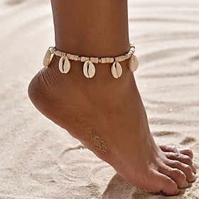 Women's Ankle Bracelet Braided Star Boho Shell Anklet Jewelry Gold For Daily Gender:Women's; Quantity:1pc; Theme:Star; Shape:Circular; Style:Boho; Jewelry Type:Ankle Bracelet; Occasion:Daily; Material:Shell; Length:32; Design:Braided; Front page:Jewelry; Listing Date:05/11/2020