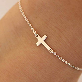 Women's Bracelet Two tone Cross Casual / Sporty Alloy Bracelet Jewelry Gold / Silver For Daily Gender:Women's; Quantity:1pc; Theme:Cross; Shape:Circular; Style:Casual / Sporty; Jewelry Type:Bracelet; Occasion:Daily; Material:Alloy; Length of Bracelet:25; Design:Two tone; Shipping Weight:0.07; Listing Date:05/11/2020