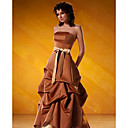 Strapless Satin Maxi Evening Dress / Prom Dress (HSX177)