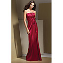 Empire Strapless Floor-length Satin Bridesmaid Dress / Prom Dress (HSX121)