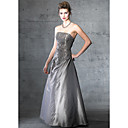 Stunning Strapless Maxi Evening Dress / Prom Dress (HSX247)
