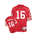 Montana San Francisco 49ers 16 Red NFL Jersey (GLQF221)