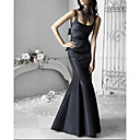 Trumpet / Mermaid Scoop Floor-length Sashes Taffeta Evening Dress / Prom Dress