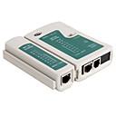 2-en-1 RJ45 RJ11 de red y analizador de cables de teléfono