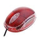 mini usb Ratón óptico (rojo)