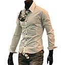 blanco negro casual camisa de manga larga