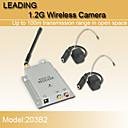 1.2GHz lujo de seguridad CCTV CMOS inalámbrica de vídeo en color y receptor AV