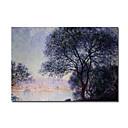 pintados a mano de pintura al óleo Antibes visto desde los jardines de Claude Monet salis con el marco de estirado