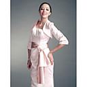 3/4-length mangas de la chaqueta de satén de novia / envoltura de bodas (145206)