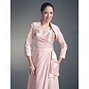3/4-length mangas de la chaqueta de gasa raso de novia / envoltura de bodas (145205)