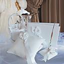 Colección de la boda del lirio de cala establecido en satén wihte (4 piezas)