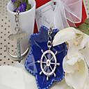 Destination Wedding Love Voyage Keyring (Set of Two) in Velvet Gift Bag
