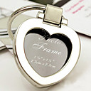 cromo llavero corazón / marco de fotos mini