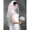 Wedding Veils 2 Layer Fingertip Veils With Beading