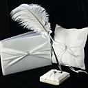 colección de la boda clásica en blanco satinado (3 piezas)