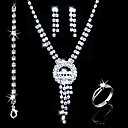 Gorgeous Alloy With Rhinestones Wedding Bridal Jewelry Set(0986-L20111211485)