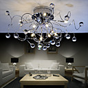 Lámpara de techo de Cristal Cromada con 11 Bombillas - NICHOLAS