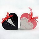 Tuxedo Gown Heart Shaped Favor Box With Organza Ribbon (Set of 12) thumbnail