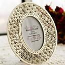 cristal precioso tono plata con acento marco de imagen ovalada