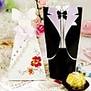 Classic Bride Groom Favor Box (Set of 12 Pairs)