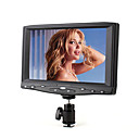 7inch portátil de pequeño tamaño en la cámara de campo hd monitor con entrada VGA y AV compuesto