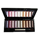 10 colores brillo suave paleta de sombra de ojos con un pincel libre