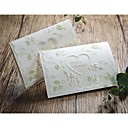 Spring Idea Embossed Wedding Invitation With Heart Cutout (Set of 50)