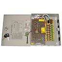 9-canal 12V DC 10 bis regula la fuente de alimentación para el sistema de circuito cerrado de televisión