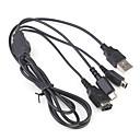 3 en 1 cable universal de recarga USB