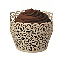 Ivory Laser Cut Cupcake Wrappers (Set of 12)