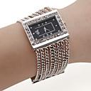 aleación de moda banda reloj pulsera de cuarzo para las mujeres