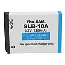 1200mAh batería de la cámara SLB-10A para Samsung L310W y más