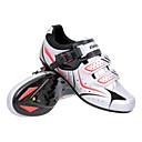 ciclismo de ruta spd zapatos con suela y fibra de vidrio pu superior de cuero pueden compatibilidad SPD, mira, SPD-R, SPD-SL