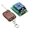 4 canales de control remoto del interruptor del receptor y el transmisor de 4 teclas