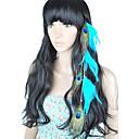 1 piezas clip en extensiones de cabello de plumas de pavo real