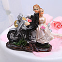 Motorcycle Bride Groom Wedding Cake Topper
