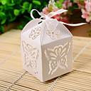 Exquisite Cutout Butterfly Flower Laser Cut Favor Box (Set of 12)
