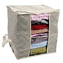 bolsa de almacenamiento de la ropa de color caqui visible