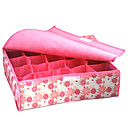 Caja de almacenamiento de la ropa interior de tapa blanda 20 compartimiento