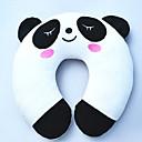 patrón de oso panda de peluche en forma de U almohada