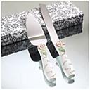 diseño elegante y rosa pastel de bodas de resina mango que sirve conjunto