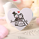 Personalized Heart Shaped Favor Tag - Bride Groom (Set of 60)