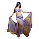 3-piezas dancewear de poliéster con abalorios vientre rendimiento traje de baile para las damas más colores