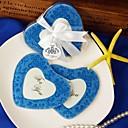 bebé azul damasco impresión montañas del corazón de fotos (juego de 2)
