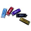 kaine - (k4-2) Tecla de mini llavero armónica c / 4 agujeros / 8 tonos (color al azar)