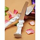 diseño de la novia y el novio pastel cuchillo / configurar el servidor