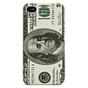 100 dólares con dibujos pu cuero y caja de plástico para el iPhone 4 y 4S