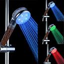 ABS cromado llevó cabezal de ducha con función de filtración de agua