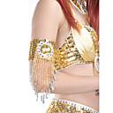 1-pieza de ropa de baile de poliéster con pedrería o lentejuelas Pulsera de danza del vientre para damas colores más